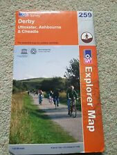 OS Explorer Map (259) Derby, Uttoxeter, Ashbourne and Cheadle
