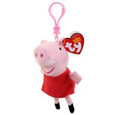 "TY Beanie Baby 4"" PEPPA Pig Key Clip Plush Stuffed Animal Toy MWMTs Heart Tags"