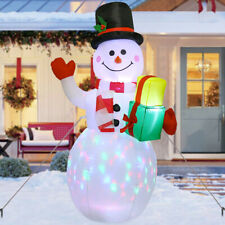 5ft Inflatable Christmas Airblown Snowman with LED Light Lawn Yard Outdoor Decor