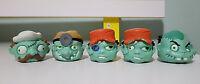 ZOMBIE ZITY SWOBBLERZ HEADS X 5 TOYS SWAPPABLE HEADS!