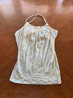 Lululemon Women's 4 Tank Top Shirt Top Racerback Singlet Blue Bra Strappy