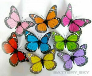 3D Colorful Artificial Butterflies Dummy Craft Wedding Party Floral Decor Gifts