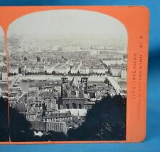 1870s French Stereoview Photo Lyon Panorama Cathedrale Observatoires Gay France