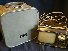 Sony Micro Tv Model 5-303W Hard Shell Case Transistor Television parts or repair