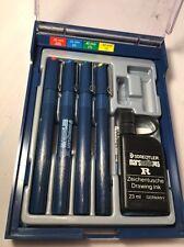 *VTG* Staedtler Marsmatic 700 Technical 4 Pen Set Kit w/ Ink - Made in Germany