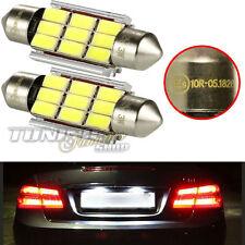 2x LED SMD Kennzeichenbeleuchtung Soffitte Birne WEISS TÜV #72 Fiat Alfa Lancia