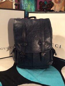 Gucci Mens Black Backpack- Unisex