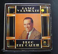 Hugo Del Carril - La Voz La Vida De LP VG LMS 76077 Microfon 1976 Vinyl Record