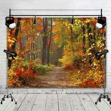 Autumn Scenic Photo Studio Backdrops Children Vinyl Photography Background 7x5FT