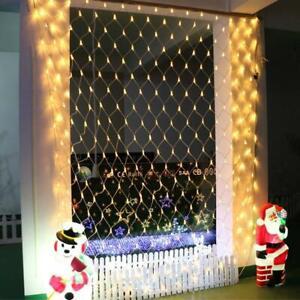 LED Guirlande Lumineuse Filet Maille Lumière Extérieur Étanche Jardin Noël Décor