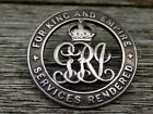 WWI Silver Services Rendered Badge 1914-18 (Wound Badge) No. 56639 - Unknown SWB
