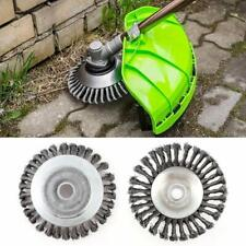 8 Inch Garden Grass Weed Brush Strimmer Head Solid Steel Wire Wheel Lawn Mower
