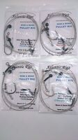 4 X SEA FISHING WIRE & MONO PULLEY PENNEL RIGS TOPE HUSS HOUNDS CONGER EELS