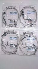 **FREE POSTAGE** 4 X SEA FISHING WIRE & MONO PULLEY RIGS CONGER TOPE HUSS HOUNDS