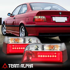 Fits 1992-1999 BMW E36 3-Series 2Dr<NEON TUBE LED BAR>Red/Clear Tail Light Lamp