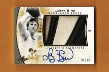 LARRY BIRD-2014 Leaf Q GAME WORN GOLD (#6/10) 3-COLOR SHOE/AUTO/AUTOGRAPH-RARE