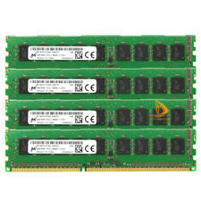 4pcs 8GB Micron 2RX8 PC3-12800E DDR3-1600Mhz 240PIN DIMM Desktop ECC Memory RAM