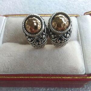 J  John Hardy 925 and 18K post earrings