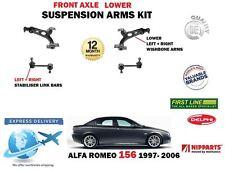 Per Alfa Romeo 156 1997->2X Bracci Anteriori Inferiori + 2X Biellette Set