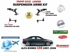 FOR ALFA ROMEO 156 1997-> 2X FRONT LOWER WISHBONE ARMS + 2X STABILISER LINKS SET