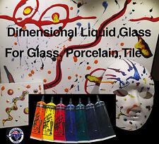 Porcelaine Paint Glass Paint Tile Paint 7 x 50ml Metal Paint