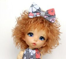 "Handmade PukiFee wig ""Peach blond"" Lati Yellow wig BJD OOAK wig 5 Inch"