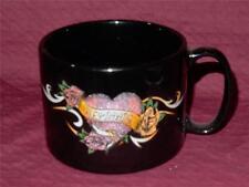 HARLEY DAVIDSON LADIES GLITTERY HEART BLACK COFFEE MUG CUP (NEW)