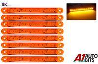 8x Naranja Ámbar 24v 12 LED intermitente lateral Luces Indicadoras De para Man