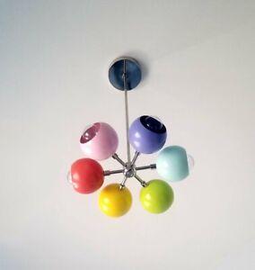Modern Chandelier Sputnik Eyeball Shaped Mid Century Lamp Ceiling Fixture Light
