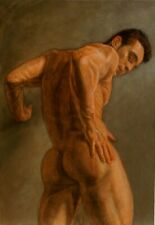 Classic Male Nude Acrylic Painting Realism