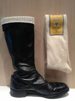 Sea Boot Socks - Extra Long 80% Wool - English Cream Motorcycle/Fisherman Hose