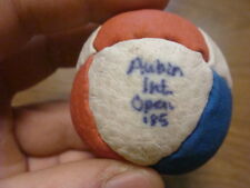 TOURNAMENT used 1985 -- VINTAGE hacky sack - 8 Panel RED WHITE BLUE Aubin Int