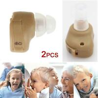 2pcs Small In Ear Invisible Best Sound Amplifier Adjustable Tone Hearing Aids-Jʌ