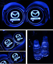2PCS Colorful LED Car Cup Holder Pad for Mazda Auto Interior Atmosphere Lights