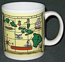 1998 Map of Hawaiian Islands Mug / Cup by Island Treasures.