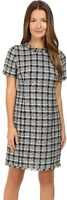 Kate Spade New York 237593 Womens Textured Tweed Sheath Dress Black/Grey Size 10