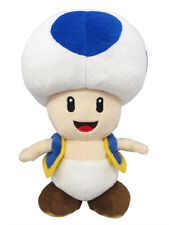 """1x Little Buddy (1588) Super Mario All Star Collection - Blue Toad 8"""" Plush Doll"""