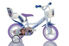 "Disney Frozen 2 Film Kids Girls Bike 12"" Wheel Bicycle Stabilisers Single Speed"