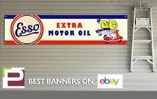 Esso Motor Oil Scooter Banner con ojales para taller, garaje, Mancave