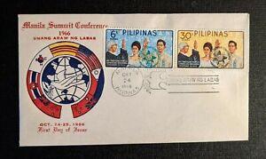 1966 Manila Summit Conference Philippians FDC Cover