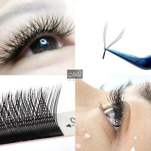 0.07 C Y-Shaped Eyelash Extensions Pre-made Volume Fan Lashes Semi Permanent