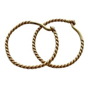 James Avery 14K Yellow Gold Twisted Hoop Earrings Retired