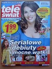 NIGELLA LAWSON on front cover Polish TELE SWIAT Magazine 20/2013 in.Joanna Krupa