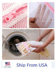 3x Laundry white Wash Washing Bag Large Mesh Clothes Aid Saver Net Cleaner us