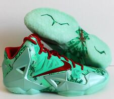 NIKE LEBRON XI 11 CHRISTMAS GREEN GLOW-LIGHT CRIMSON SZ 9 [616175-301]
