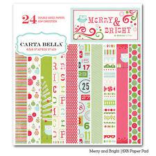 "CARTA BELLA ""MERRY & BRIGHT""  6x6 paper pad  2012 SCRAPJACK'S PLACE"