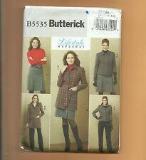 BUTTERICK pattern B5535 skirt pant suit jacket variations Sz 8 10 12 14 unused