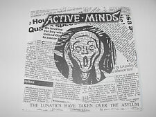 """ACTIVE MINDS - """"The Lunatics Have..."""" 7"""" flexi disc. Political hardcore punk."""