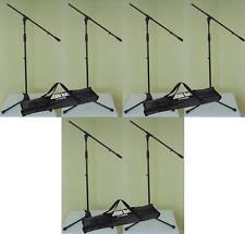 6 x Mikrofon-Ständer ECO mit 3 x Tragetasche ADAM HALL Mikrofonstativ mit Galgen