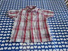 Faded Glory Originals Boys Short Sleeve Shirt with Crab Season logos Red & Cream